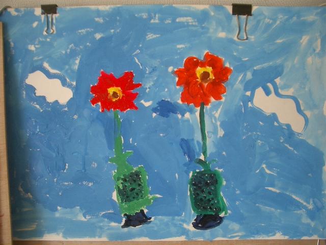 花の絵を描きました