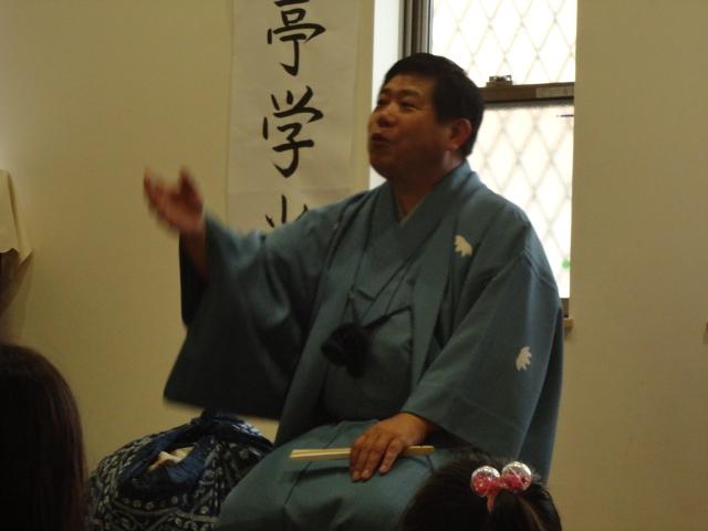笑福亭学光さんが来てくれました!