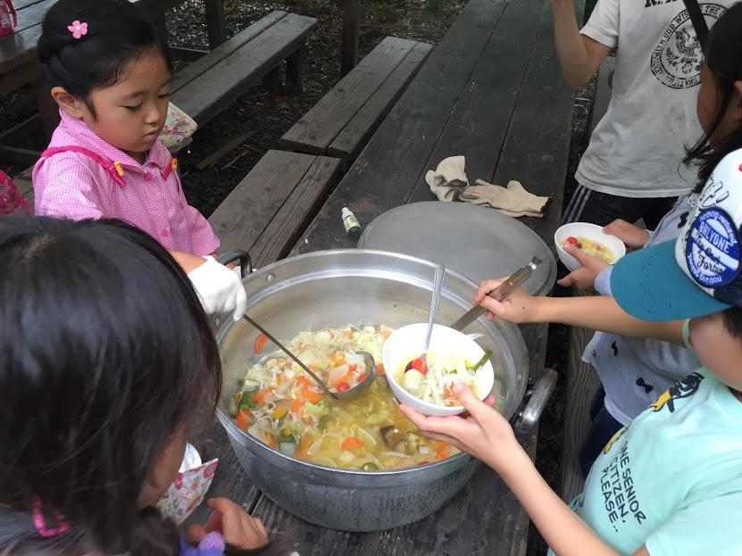 低学年・しぜん~火おこし&スープ作り~