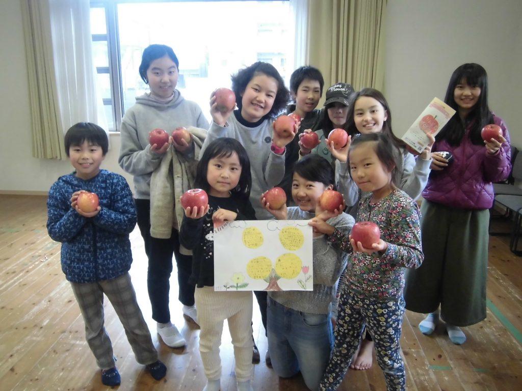 グリーンヒルズ小学校から、リンゴ園プロジェクトのリンゴが届きました!