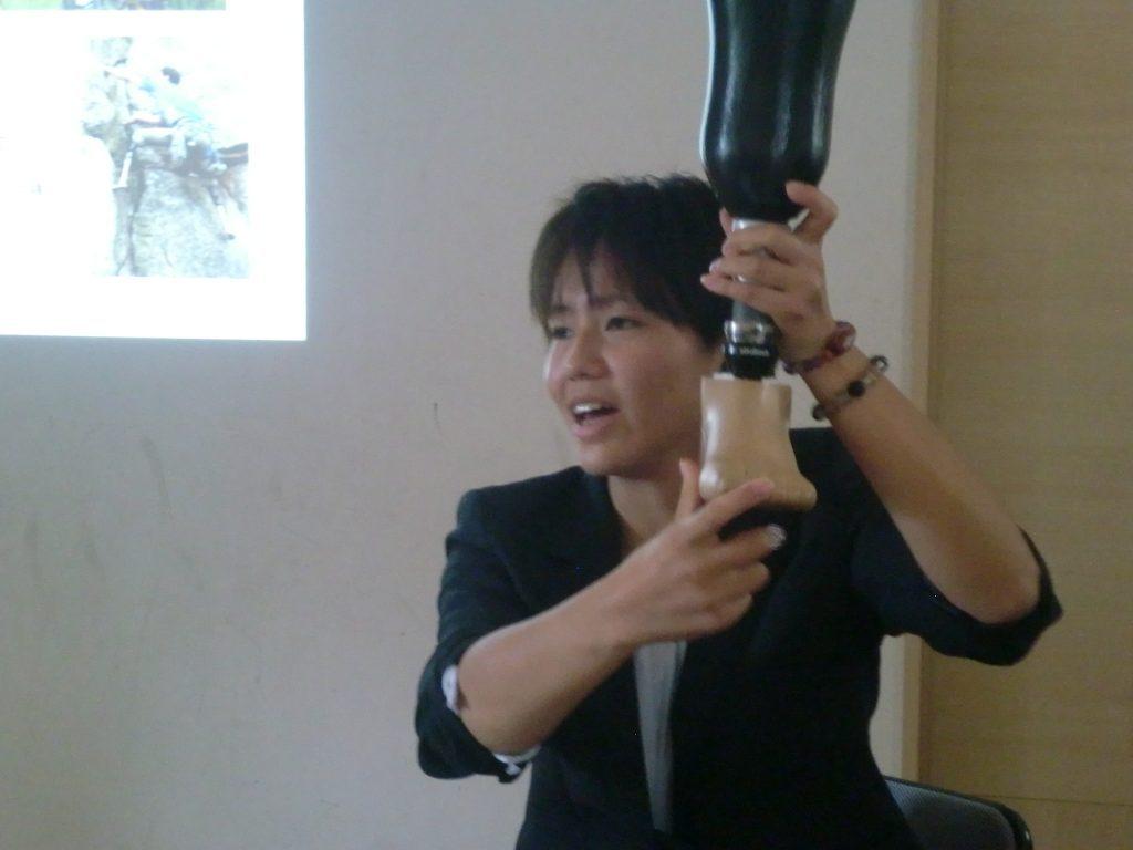 パラアーチェリー選手の江口舞さんに来ていただきました!